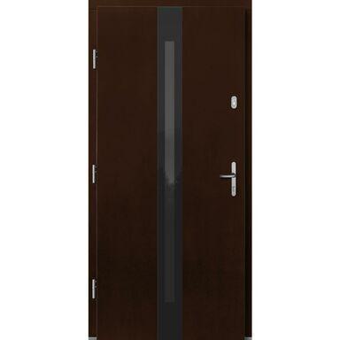 Drzwi zewnętrzne drewniane Izar orzech 90 lewe Lupol