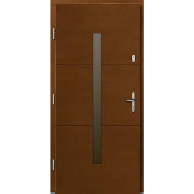 Drzwi zewnętrzne drewniane Proxima Afromozja 90 Lewe Lupol