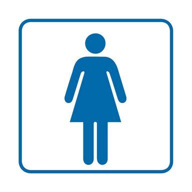 Znak informacyjny WC DAMSKIE 14.8 x 14.8 cm