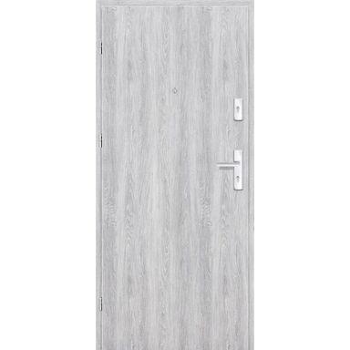 Drzwi zewnętrzne drewniane Grafen Dąb Srebrny 90 Lewe otwierane na zewnątrz Nawadoor
