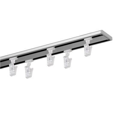 Szyna sufitowa 2-torowa SLIM 160 cm srebrna aluminiowa MARDOM