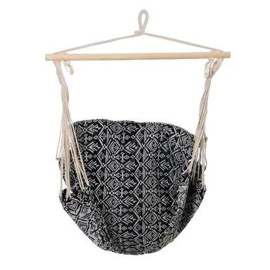 Hamak - krzesło brazylijskie czarno-białe
