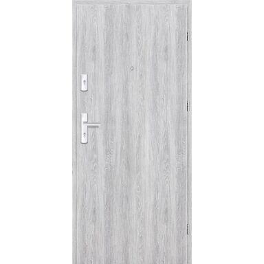 Drzwi zewnętrzne drewniane Grafen Dąb Srebrny 90 Prawe otwierane na zewnątrz Nawadoor