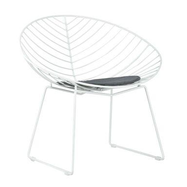 Krzesło ogrodowe LEAF stalowe białe