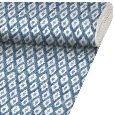 Tkanina bawełniana na mb TAKAYLA niebieska szer. 140 cm INSPIRE