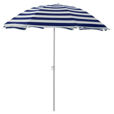 Parasol plażowy 180 cm niebiesko-biały w paski