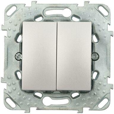 Włącznik podwójny UNICA  aluminium  SCHNEIDER
