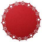Podkładka świąteczna z filcu STARLET okrągła śr. 30 cm czerwona