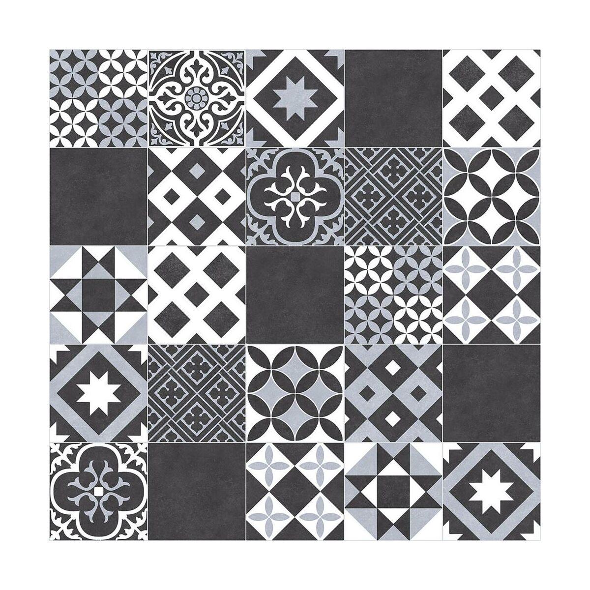 Wykladzina Pcv Plaza Amadora Czarno Biala Mozaika 3 M Wykladziny Pcv W Atrakcyjnej Cenie W Sklepach Leroy Merlin