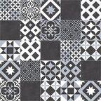 Wykładzina PCV Plaza Amadora czarno-biała mozaika 3 m