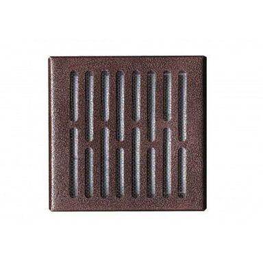 Kratka wentylacyjna stalowa 14 x 14 cm brąz młotkowany AWENTA