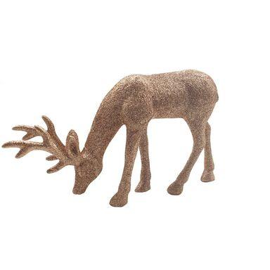 Figurka jeleń 18 cm złoty