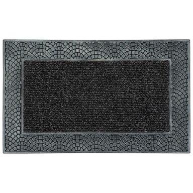 Wycieraczka zewnętrzna VIKING 45 x 75 cm gumowa szara INSPIRE