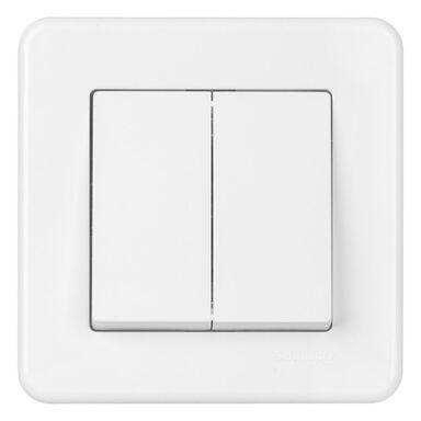 Włącznik schodowy PODWÓJNY LEONA  Biały  SCHNEIDER ELECTRIC
