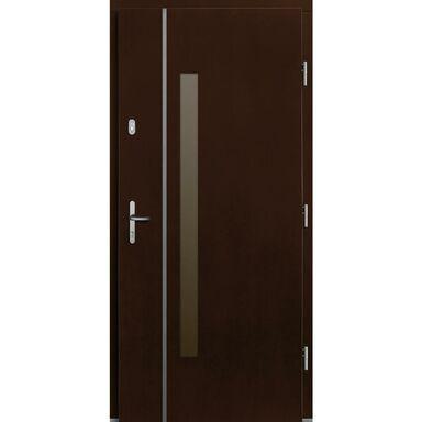 Drzwi wejściowe KALIPSO Orzech 90 Prawe