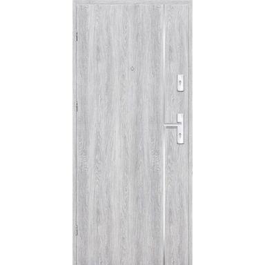 Drzwi zewnętrzne drewniane Grafen Top Dąb Srebrny 80 Lewe otwierane do wewnątrz Nawadoor