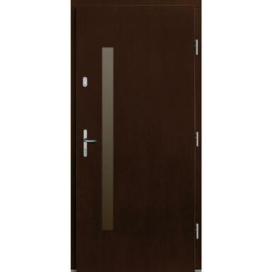 Drzwi wejściowe ALCOR Orzech 90 Prawe
