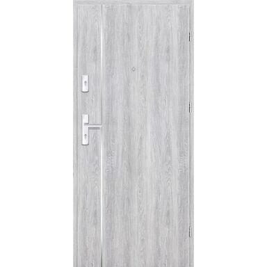 Drzwi zewnętrzne drewniane Grafen Top Dąb Srebrny 80 Prawe otwierane do wewnątrz Nawadoor