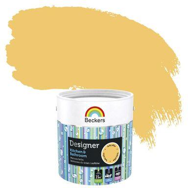 Farba wewnętrzna DESIGNER KITCHEN & BATHROOM 2,5 l Funky Yellow BECKERS