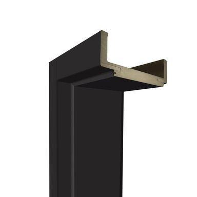 Ościeżnica regulowana do skrzydeł bezprzylgowych 80 Lewa Czarny mat 100 - 140 mm Artens