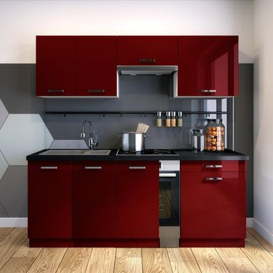 Zestaw mebli kuchennych ROSA2 kolor Bordowy CLASSEN
