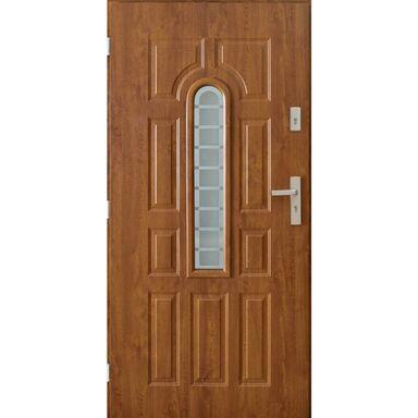 Drzwi wejściowe TEMIDA 90 Lewe Złoty dąb