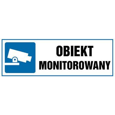Znak informacyjny OBIEKT MONITOROWANY 10.5 x 29.7 cm