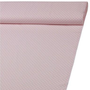 Tkanina na mb GROSZEK różowa szer. 160 cm bawełniana