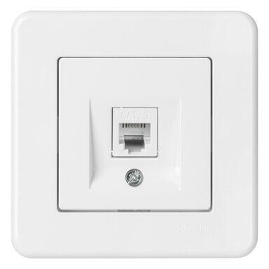 Gniazdo telefoniczne LEONA  biały  SCHNEIDER ELECTRIC