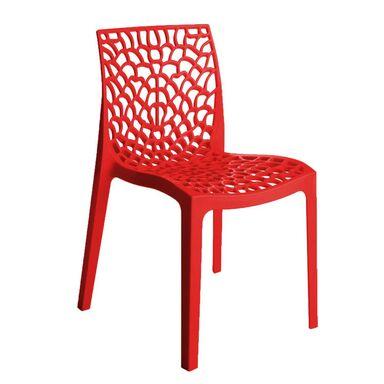 Krzesło ogrodowe GRUVYER plastikowe czerwone