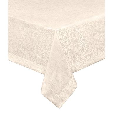Obrus na stół Rayas beżowy 130 x 180 cm