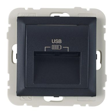 Gniazdo podwójne USB LOGUS 90  Czarny  EFAPEL