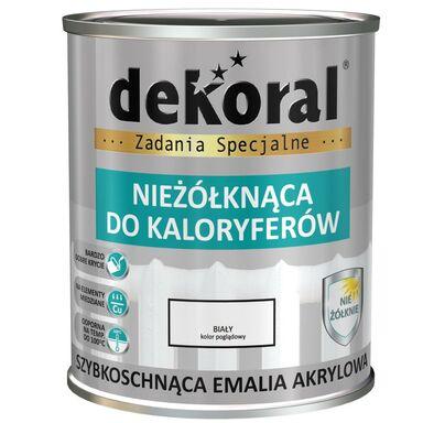 Emalia akrylowa NIEŻÓŁKNĄCA DO KALORYFERÓW 0.75 l Biała Połysk DEKORAL