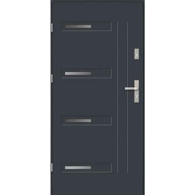 Drzwi wejściowe BARI 90 Lewe Antracyt EVOLUTION