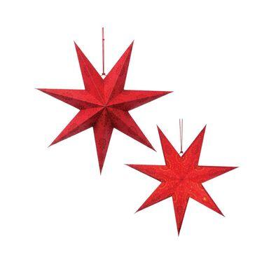 Gwiazda podświetlana 60 cm czerwona papierowa