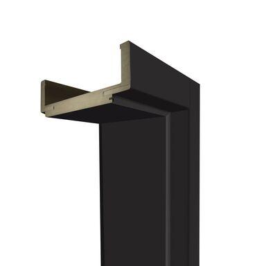 Ościeżnica regulowana do skrzydeł bezprzylgowych 80 Prawa Czarny mat 140 - 180 mm Artens