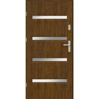 Drzwi wejściowe CAPRI 80 Lewe Złoty dąb EVOLUTION