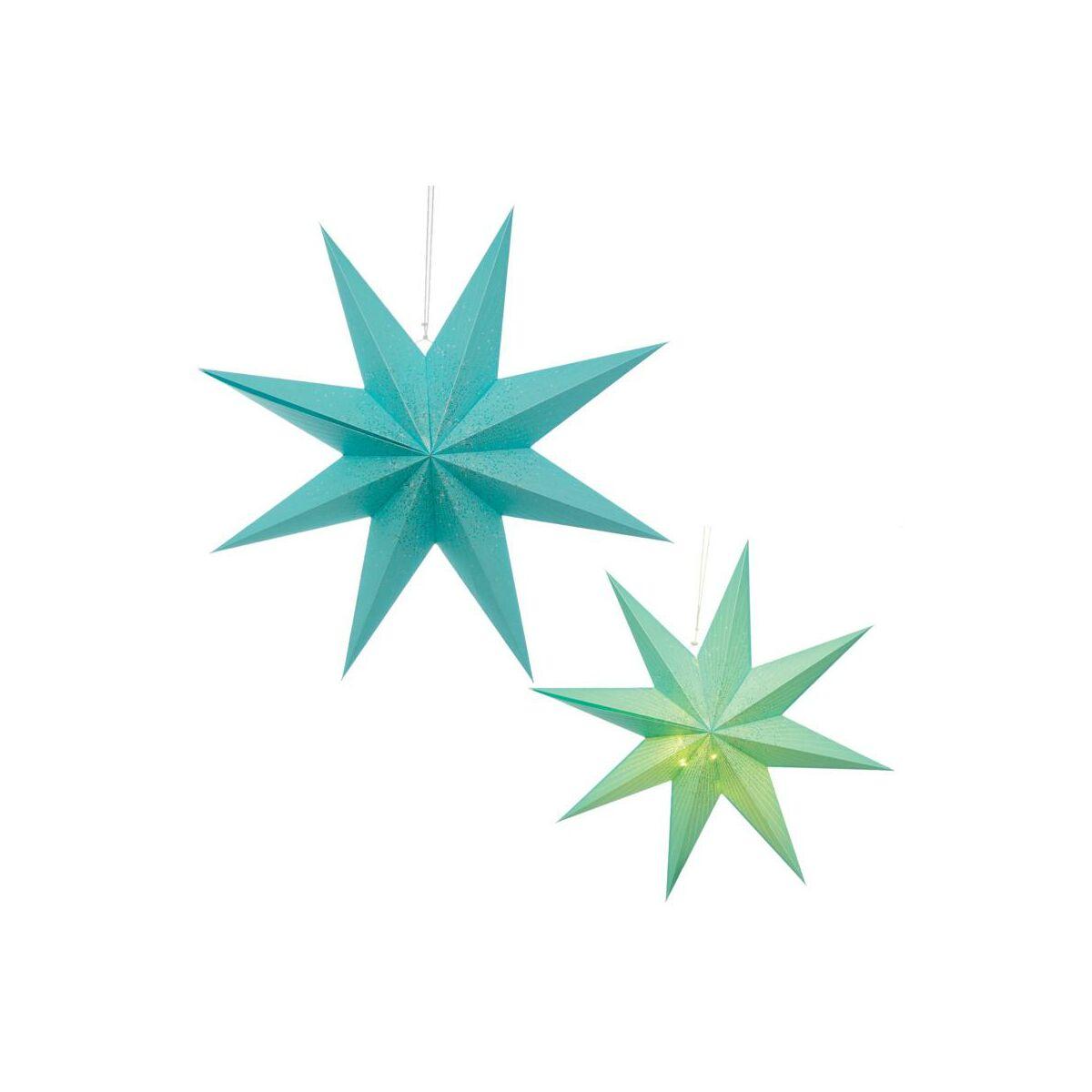 Gwiazda Podswietlana 75 Cm Niebieska Papierowa Swieczniki I Dekoracje Swiateczne W Atrakcyjnej Cenie W Sklepach Leroy Merlin