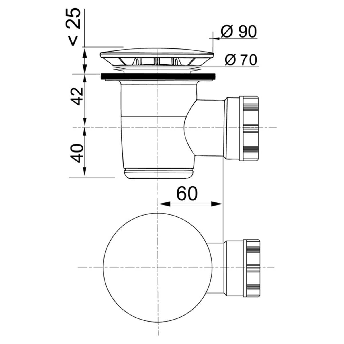 Syfon Brodzikowy 50 Mm Wirquin Syfony W Atrakcyjnej Cenie W Sklepach Leroy Merlin