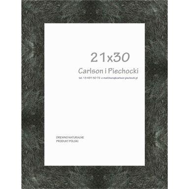 Ramka na zdjęcia Marmer 21 x 30 cm czarna drewniana