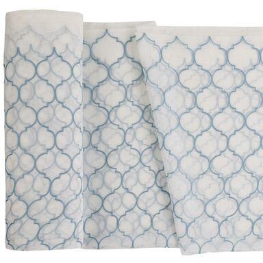 Firana na mb CASABLANCA niebieska koniczyna marokańska wys. 280 cm