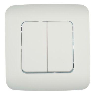 Włącznik podwójny COSY  Biały  LEXMAN