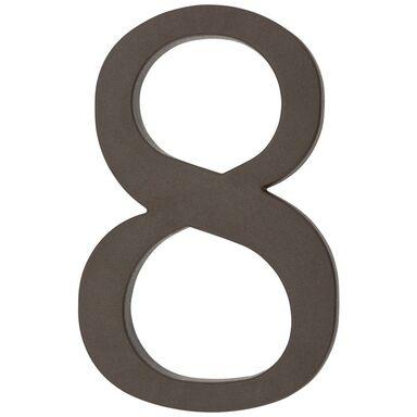 Cyfra 8 wys. 18 cm PVC brązowa