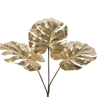 Gałązka monstera 50 cm 1 szt. złota