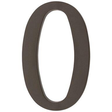 Cyfra 0 wys. 18 cm PVC brązowa