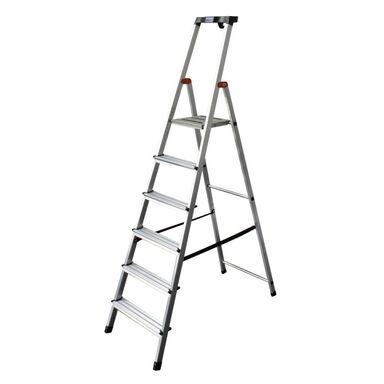 Drabina 1-stronna 6 stopni Safety aluminiowa Krause