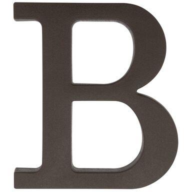 Litera B wys. 9 cm PVC brązowa