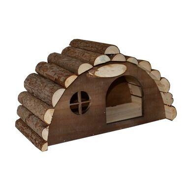 Domek dla jeży 34 x 17.5 x 19.5 cm drewniany z okienkiem