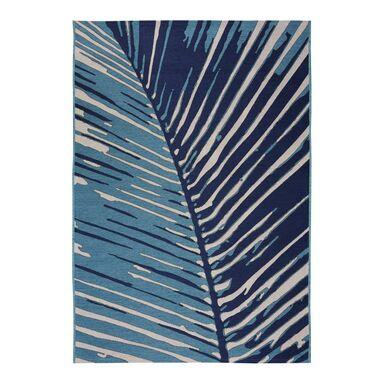 Dywan zewnętrzny w liście Borneo niebieski 120 x 170 cm