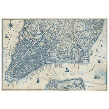 Fototapeta OLD VINTAGE CITY MAP 368 x 254 cm